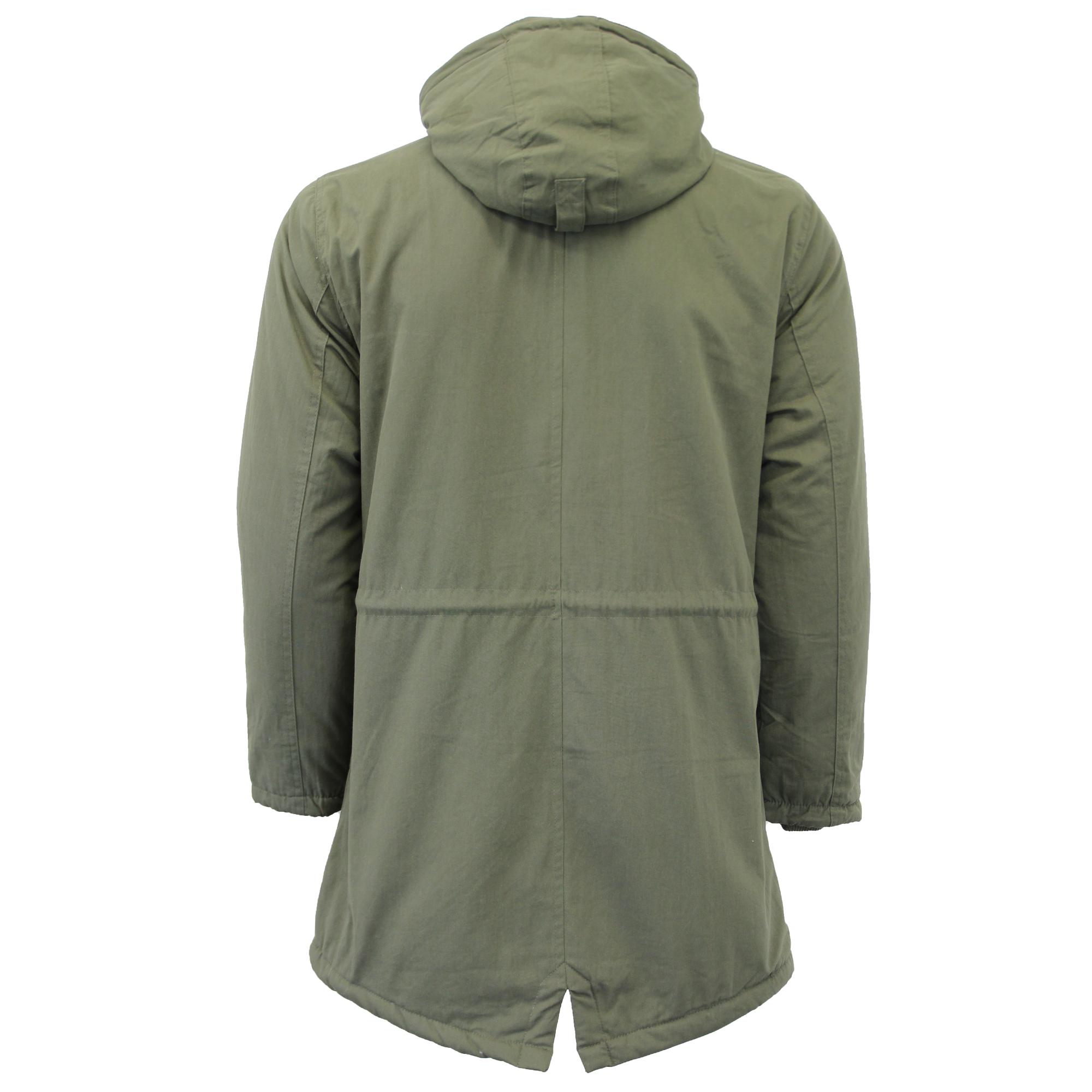 con Cappotto Pesci da Tokyo Coda foderato Pesci Giacca Parka Laundry cappuccio Sherpa Inverno uomo XwYXqPS