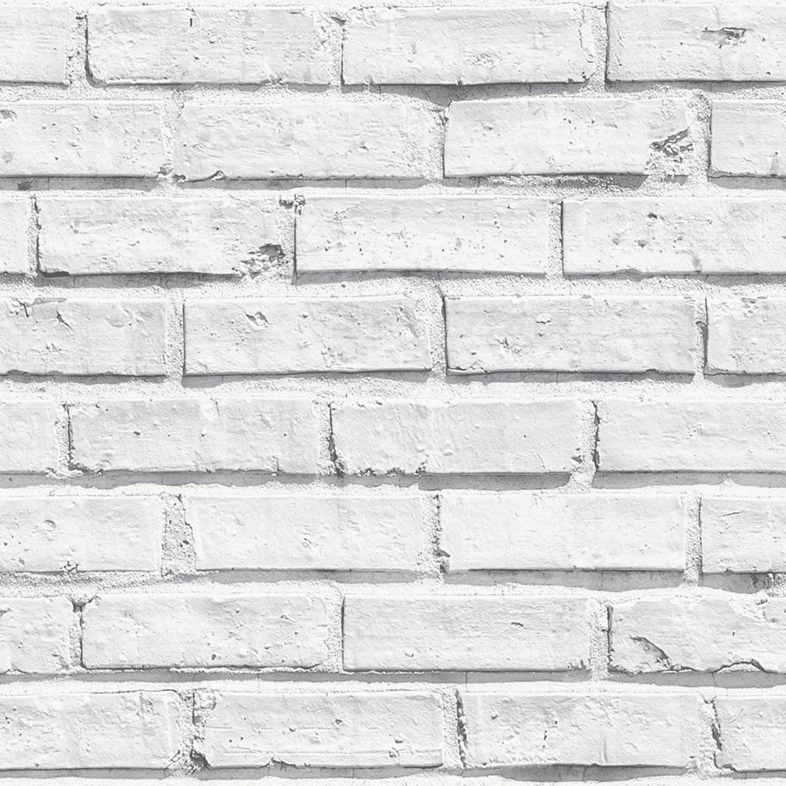 Bianco carta da parati effetto mattoni 5 stili for Carta da parete adesiva