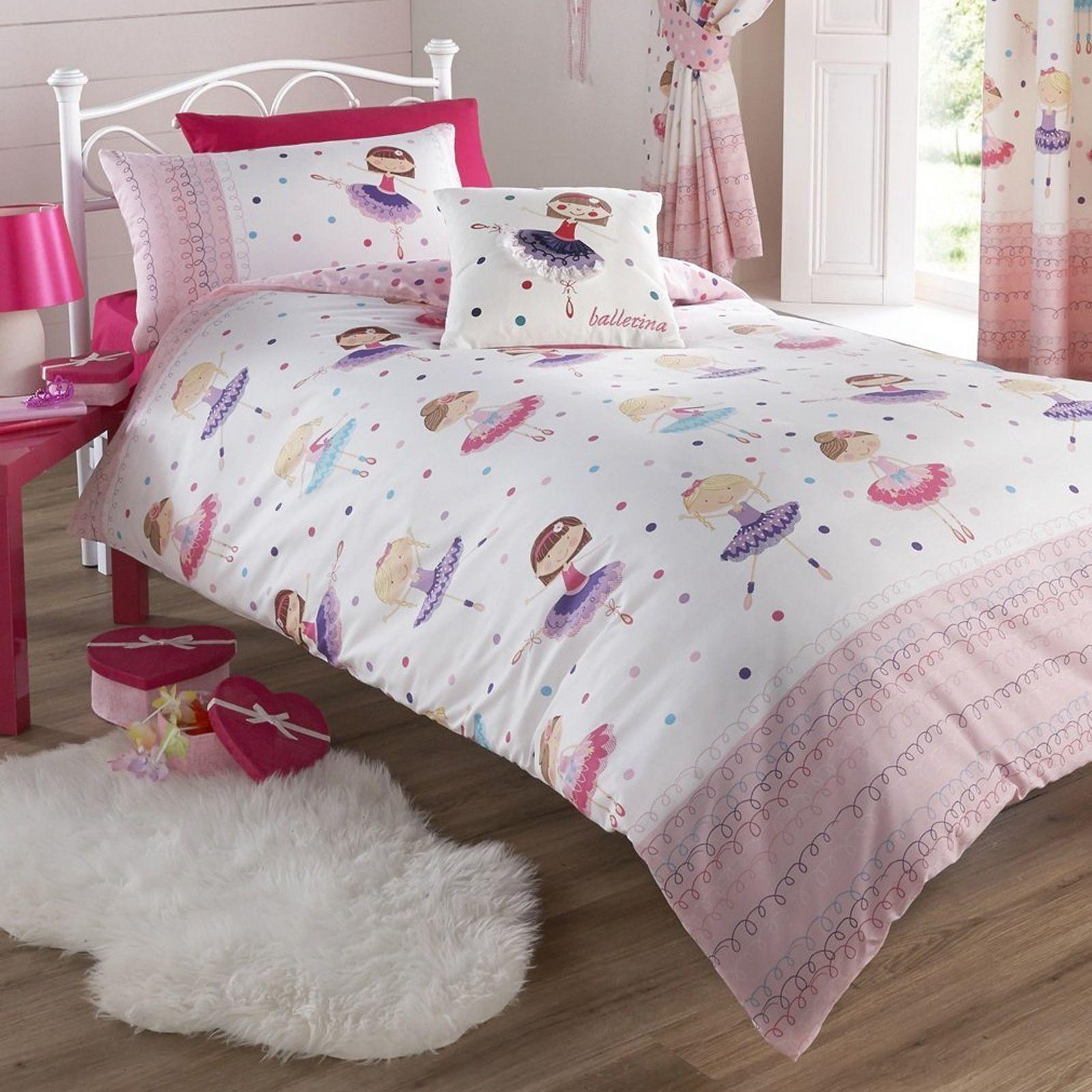 ballerina design bettbezug sets in verschiedenen gr en m dchen bettw sche ebay. Black Bedroom Furniture Sets. Home Design Ideas