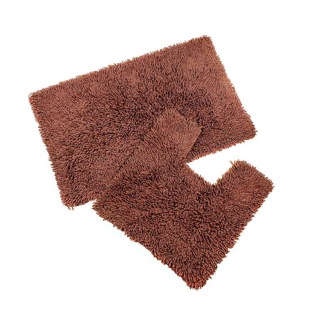 100% Cotton 2 Piece Bathroom Mat & Pedestal Mat Set / Bath