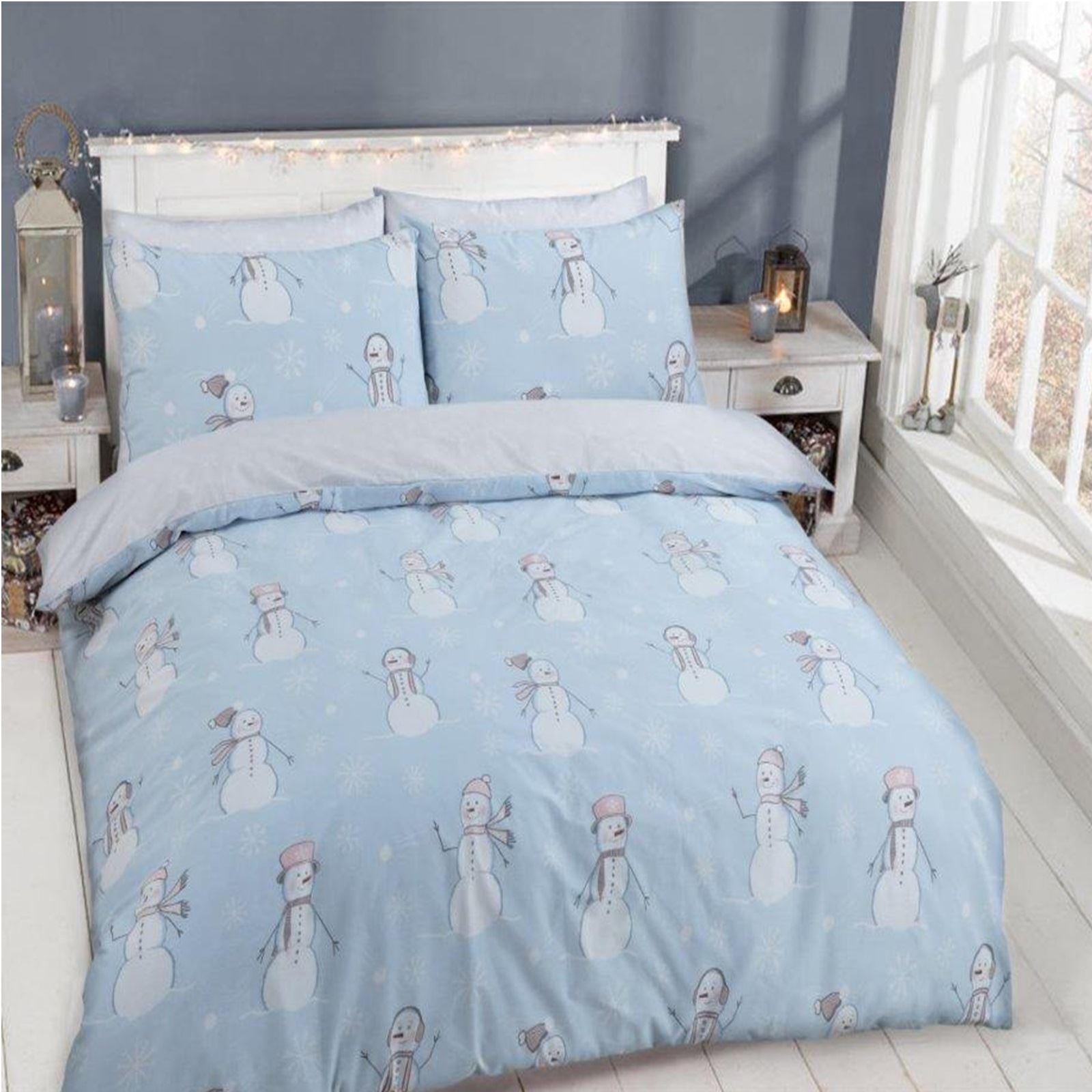 no l enfants ensemble de couette lit festive housse bonhomme neige p re elfe ebay. Black Bedroom Furniture Sets. Home Design Ideas