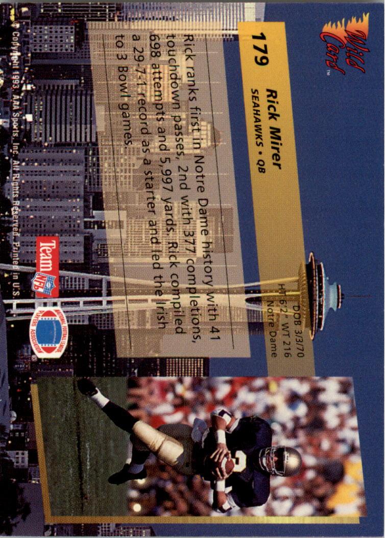 1993-Wild-Card-Superchrome-Football-Card-Pick-103-260 thumbnail 147