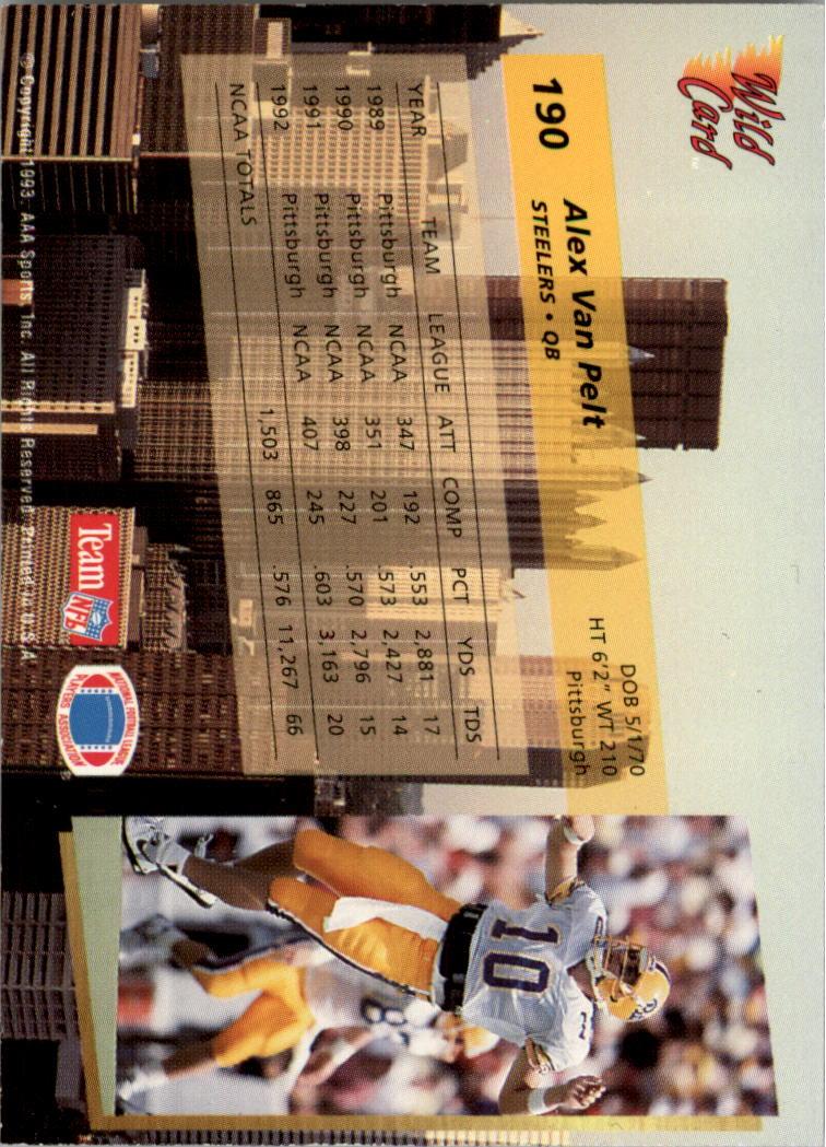 1993-Wild-Card-Superchrome-Football-Card-Pick-103-260 thumbnail 167