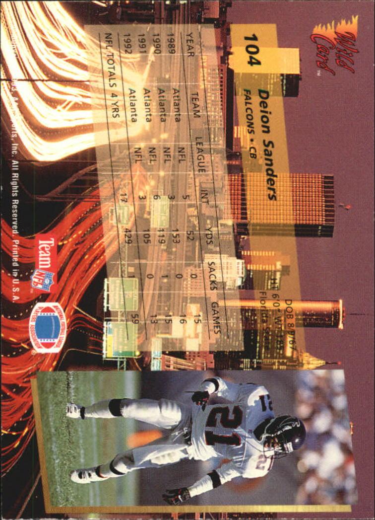 1993-Wild-Card-Superchrome-Football-Card-Pick-103-260 thumbnail 5