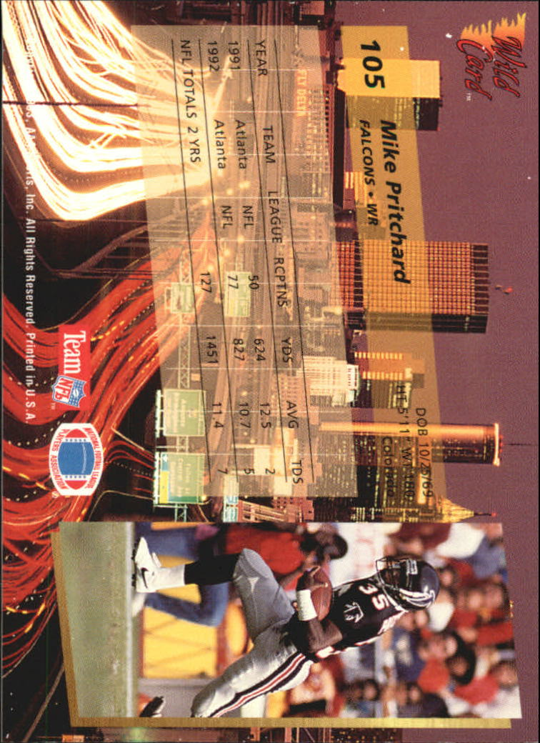 1993-Wild-Card-Superchrome-Football-Card-Pick-103-260 thumbnail 7