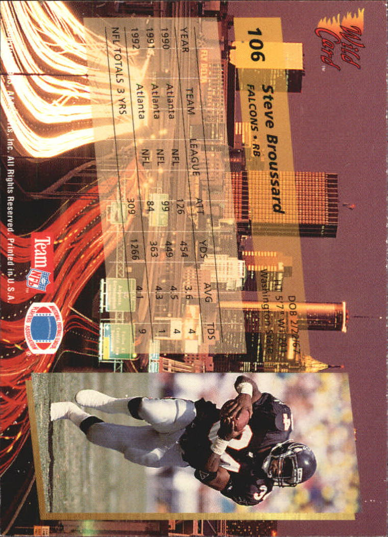 1993-Wild-Card-Superchrome-Football-Card-Pick-103-260 thumbnail 9