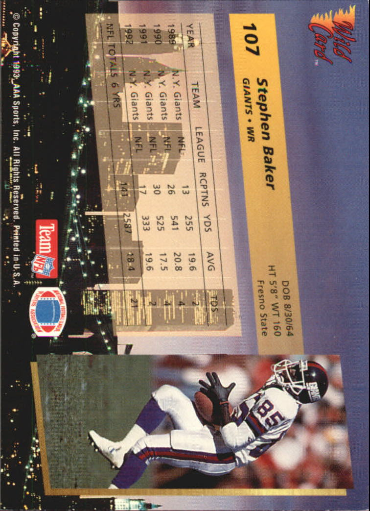 1993-Wild-Card-Superchrome-Football-Card-Pick-103-260 thumbnail 11