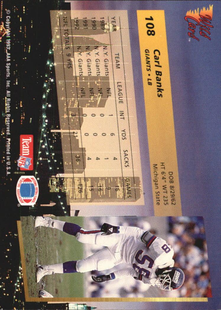 1993-Wild-Card-Superchrome-Football-Card-Pick-103-260 thumbnail 13