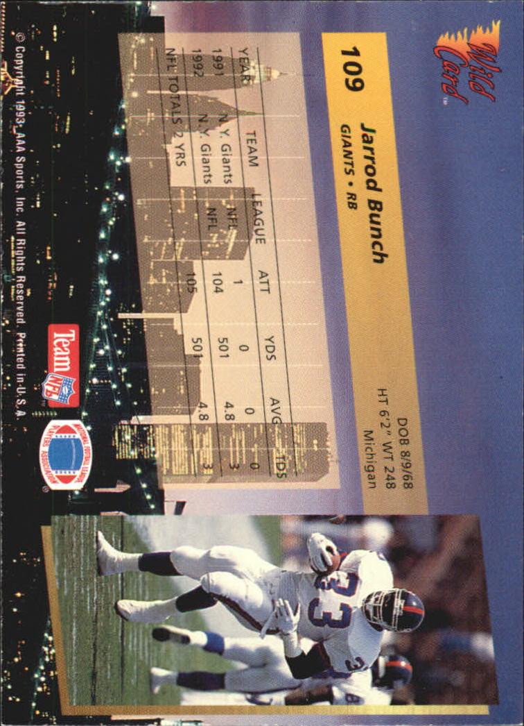 1993-Wild-Card-Superchrome-Football-Card-Pick-103-260 thumbnail 15