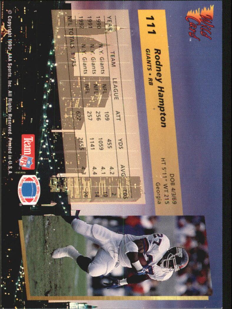 1993-Wild-Card-Superchrome-Football-Card-Pick-103-260 thumbnail 17