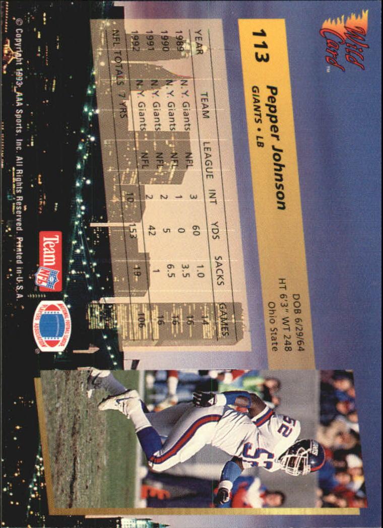 1993-Wild-Card-Superchrome-Football-Card-Pick-103-260 thumbnail 21