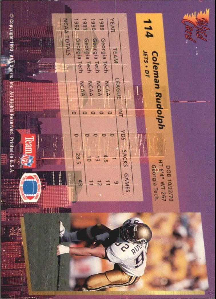 1993-Wild-Card-Superchrome-Football-Card-Pick-103-260 thumbnail 23