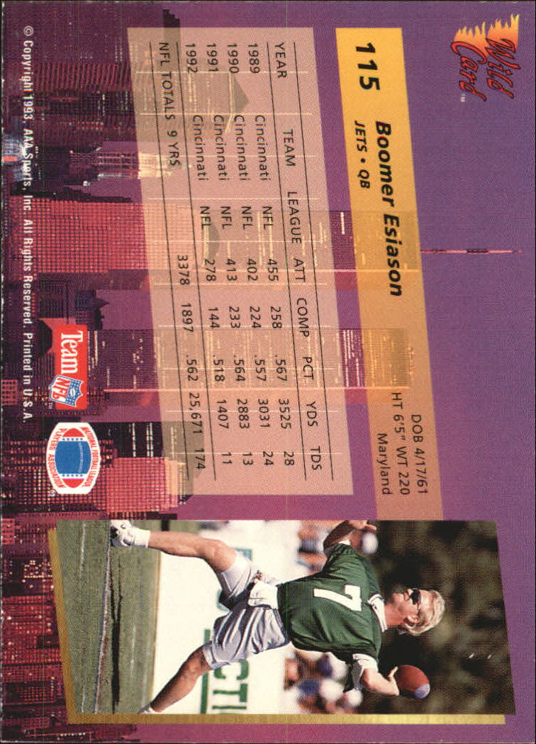 1993-Wild-Card-Superchrome-Football-Card-Pick-103-260 thumbnail 25