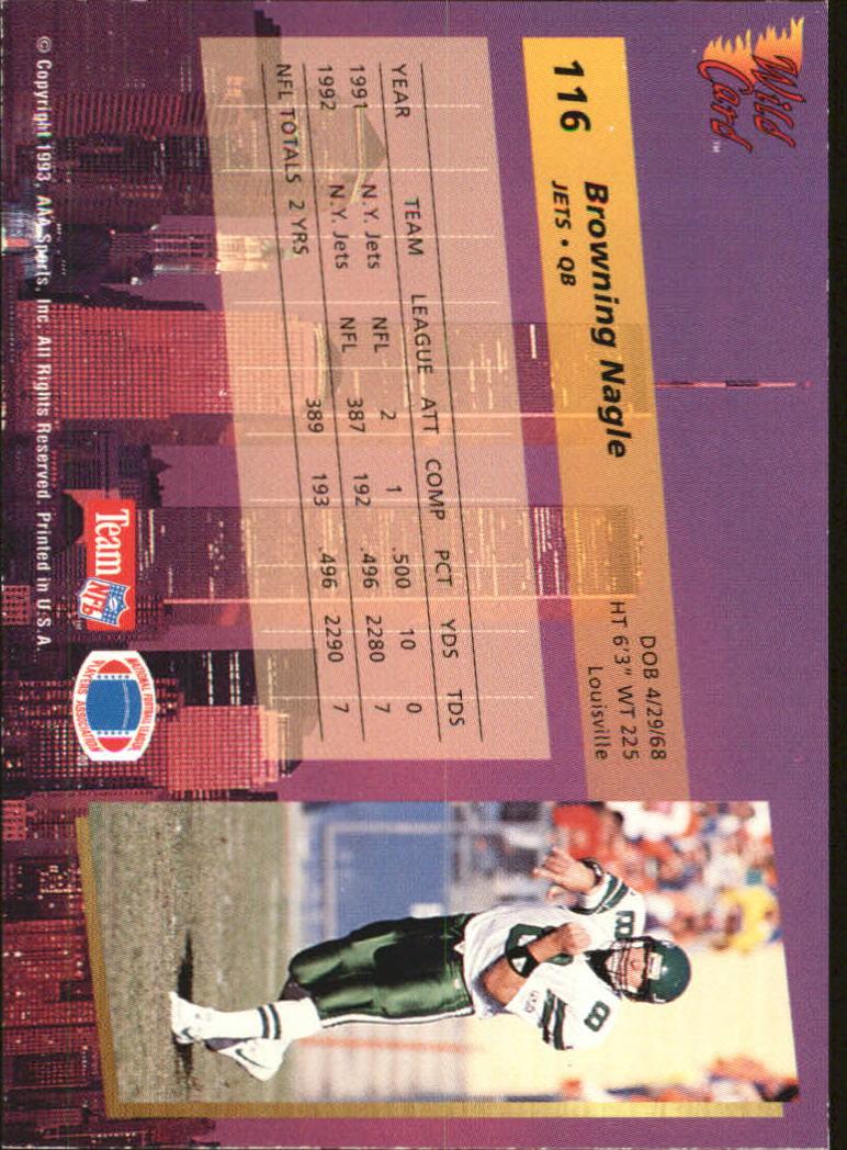 1993-Wild-Card-Superchrome-Football-Card-Pick-103-260 thumbnail 27