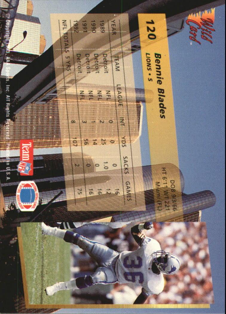 1993-Wild-Card-Superchrome-Football-Card-Pick-103-260 thumbnail 35