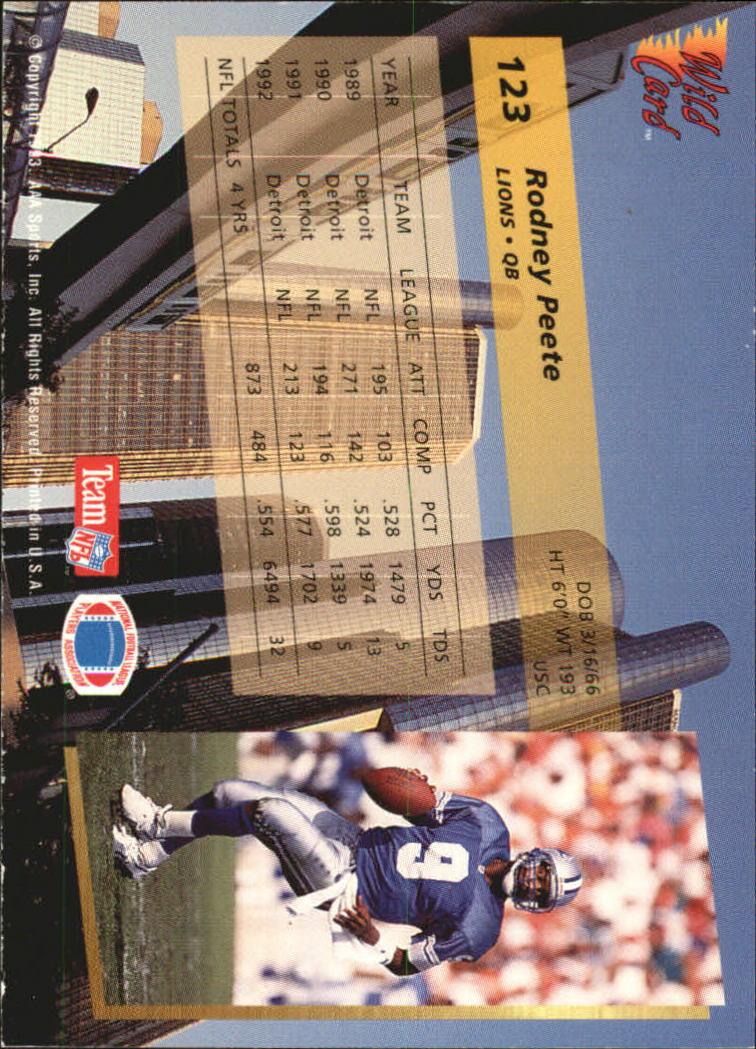 1993-Wild-Card-Superchrome-Football-Card-Pick-103-260 thumbnail 41