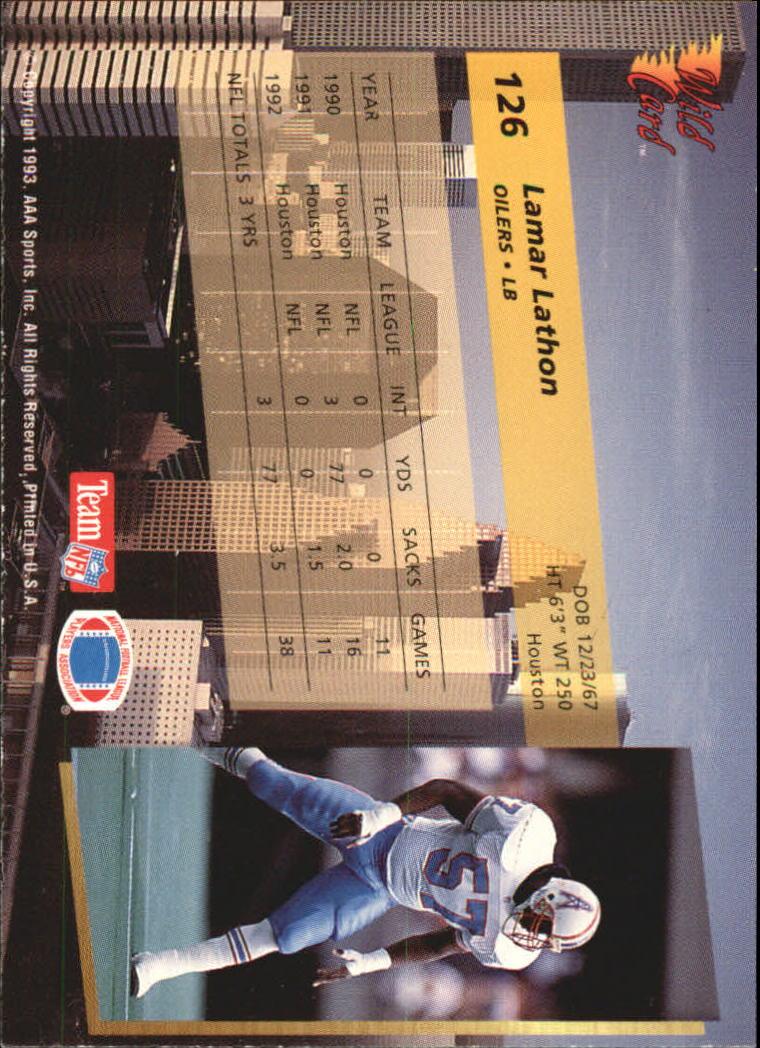 1993-Wild-Card-Superchrome-Football-Card-Pick-103-260 thumbnail 45