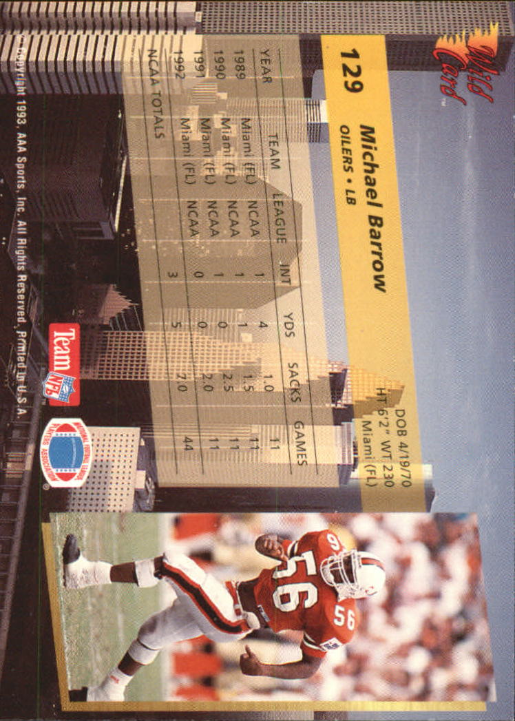 1993-Wild-Card-Superchrome-Football-Card-Pick-103-260 thumbnail 51