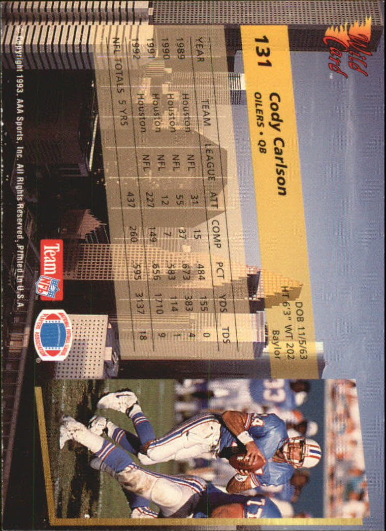 1993-Wild-Card-Superchrome-Football-Card-Pick-103-260 thumbnail 55