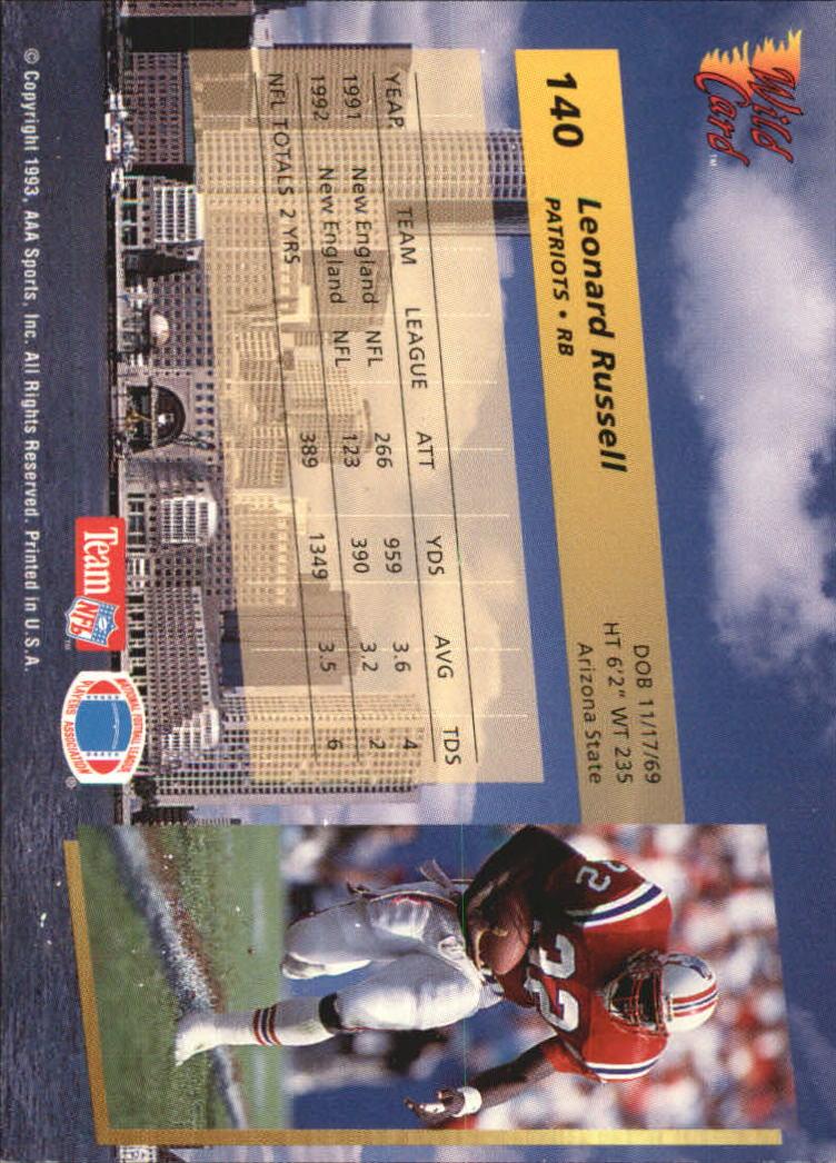 1993-Wild-Card-Superchrome-Football-Card-Pick-103-260 thumbnail 71