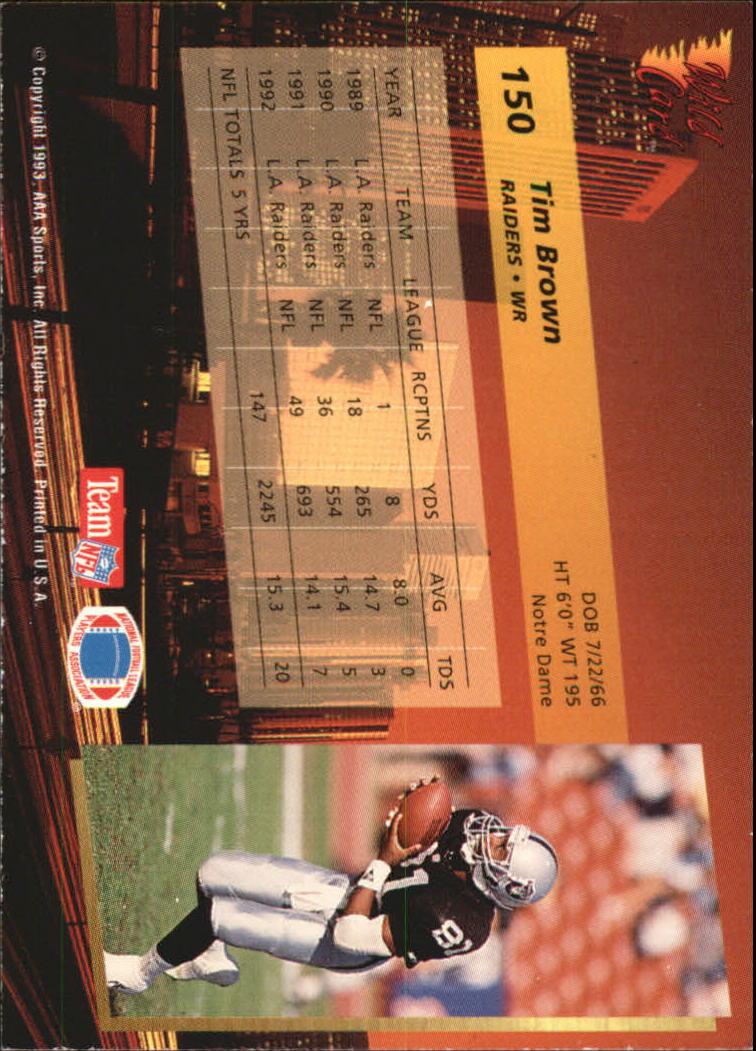 1993-Wild-Card-Superchrome-Football-Card-Pick-103-260 thumbnail 91