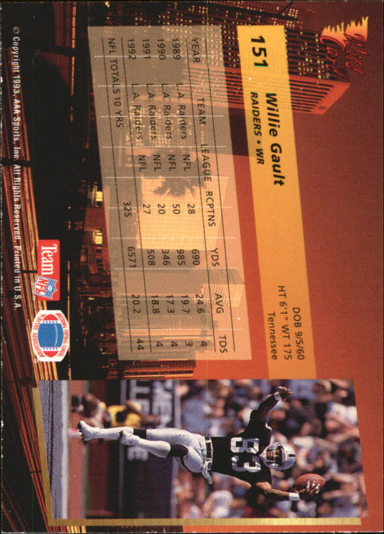 1993-Wild-Card-Superchrome-Football-Card-Pick-103-260 thumbnail 93