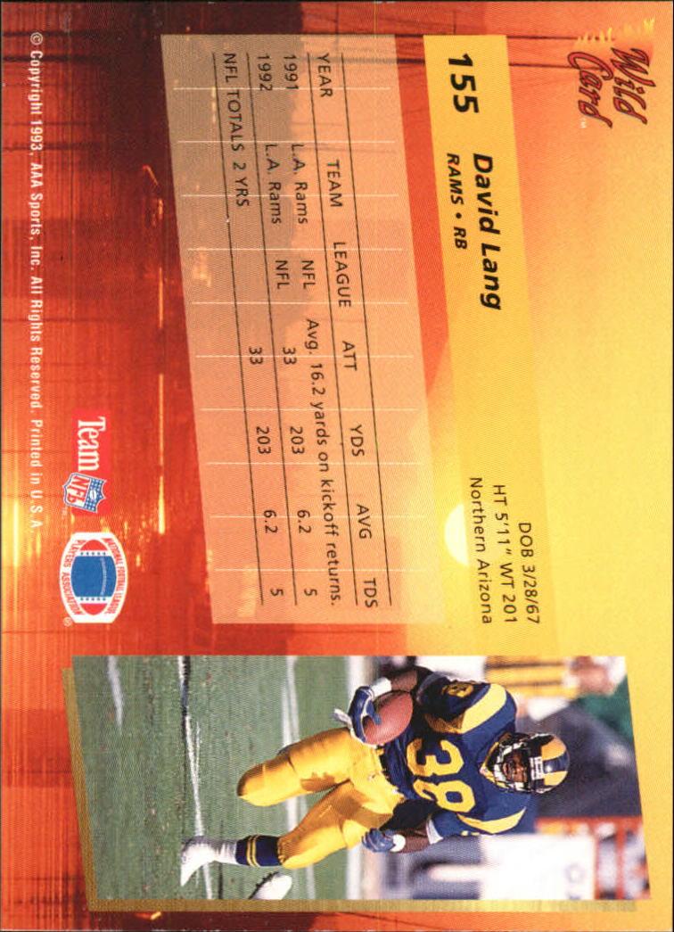 1993-Wild-Card-Superchrome-Football-Card-Pick-103-260 thumbnail 99