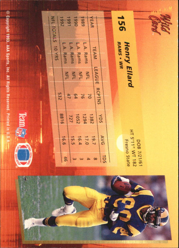 1993-Wild-Card-Superchrome-Football-Card-Pick-103-260 thumbnail 101