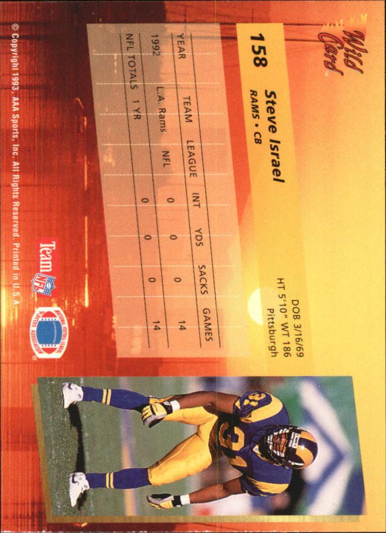 1993-Wild-Card-Superchrome-Football-Card-Pick-103-260 thumbnail 105