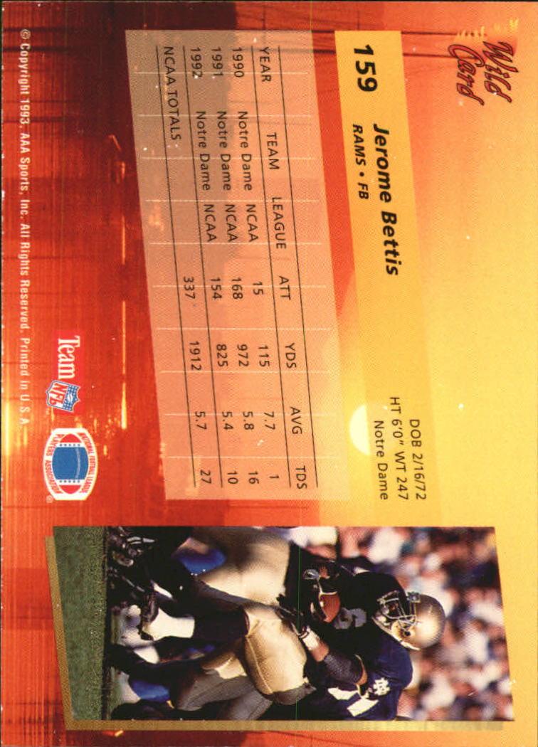 1993-Wild-Card-Superchrome-Football-Card-Pick-103-260 thumbnail 107