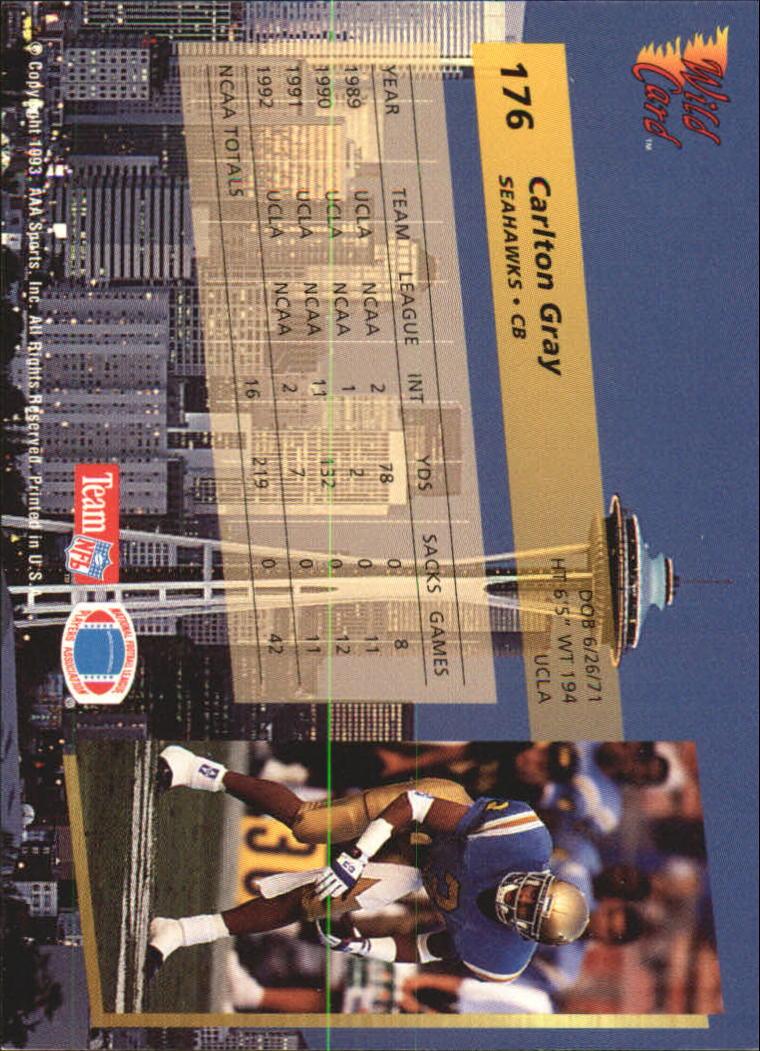 1993-Wild-Card-Superchrome-Football-Card-Pick-103-260 thumbnail 141