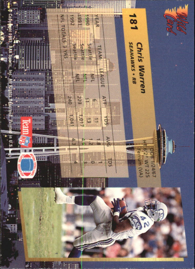 1993-Wild-Card-Superchrome-Football-Card-Pick-103-260 thumbnail 151