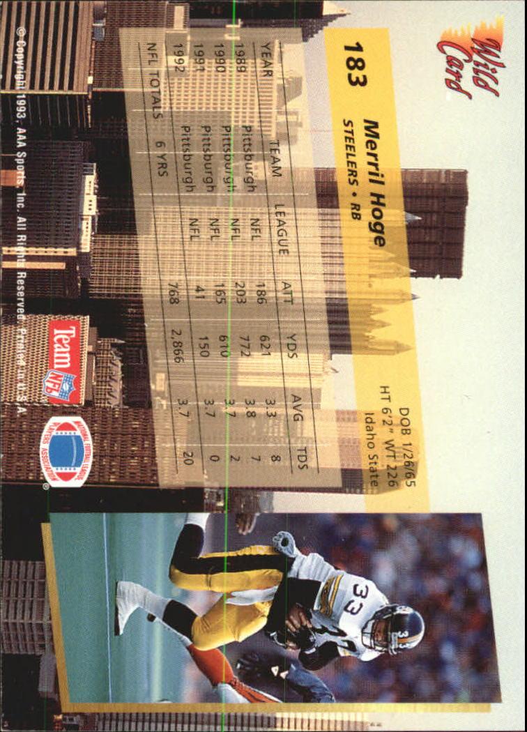 1993-Wild-Card-Superchrome-Football-Card-Pick-103-260 thumbnail 153