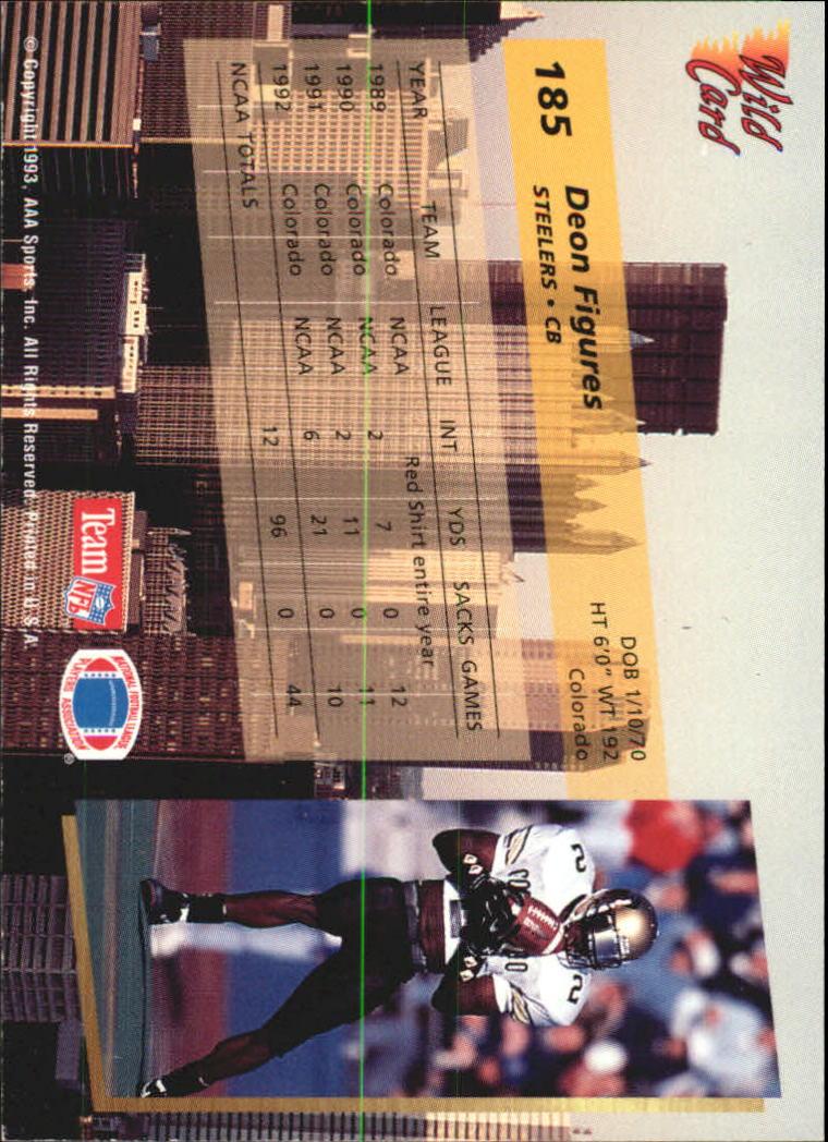 1993-Wild-Card-Superchrome-Football-Card-Pick-103-260 thumbnail 157