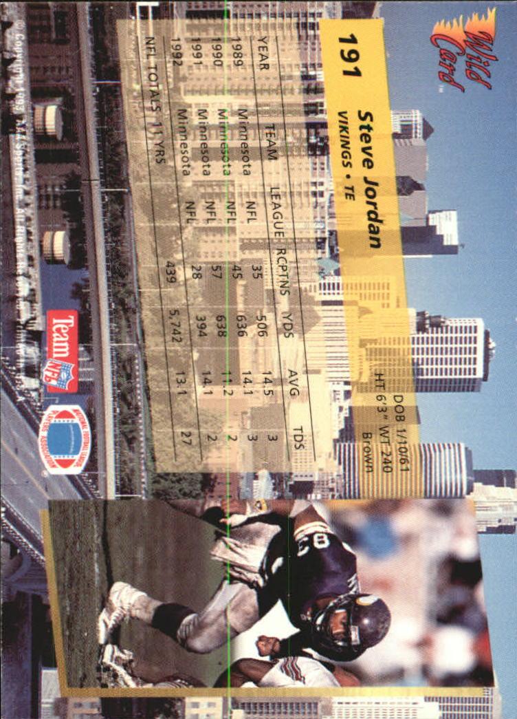 1993-Wild-Card-Superchrome-Football-Card-Pick-103-260 thumbnail 169