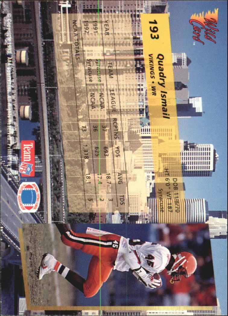 1993-Wild-Card-Superchrome-Football-Card-Pick-103-260 thumbnail 171