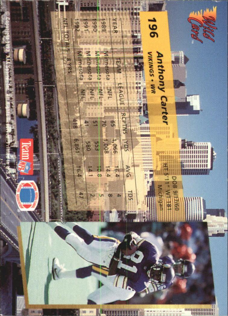 1993-Wild-Card-Superchrome-Football-Card-Pick-103-260 thumbnail 175