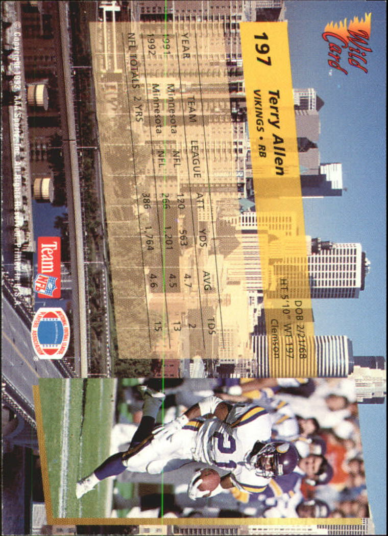 1993-Wild-Card-Superchrome-Football-Card-Pick-103-260 thumbnail 177