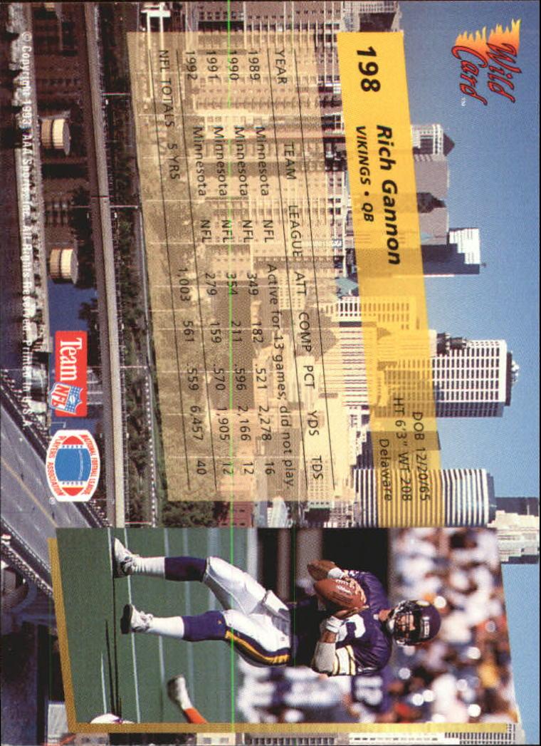 1993-Wild-Card-Superchrome-Football-Card-Pick-103-260 thumbnail 179