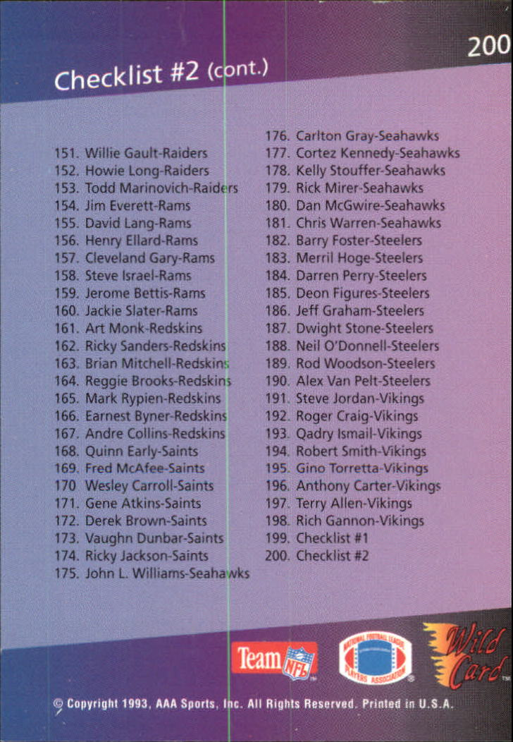 1993-Wild-Card-Superchrome-Football-Card-Pick-103-260 thumbnail 183