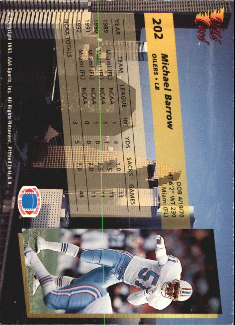 1993-Wild-Card-Superchrome-Football-Card-Pick-103-260 thumbnail 187