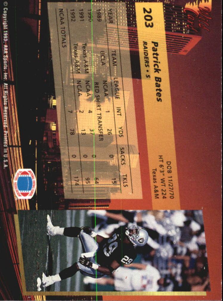 1993-Wild-Card-Superchrome-Football-Card-Pick-103-260 thumbnail 189