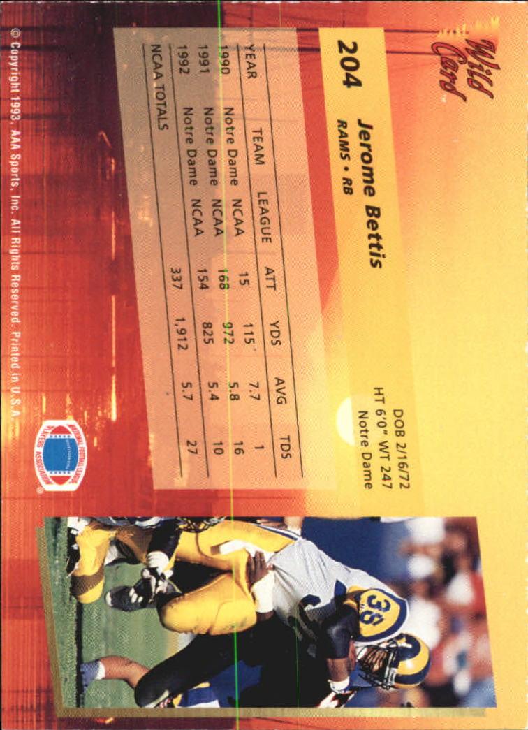 1993-Wild-Card-Superchrome-Football-Card-Pick-103-260 thumbnail 191