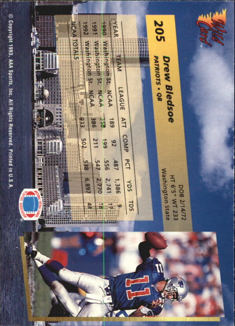 1993-Wild-Card-Superchrome-Football-Card-Pick-103-260 thumbnail 193