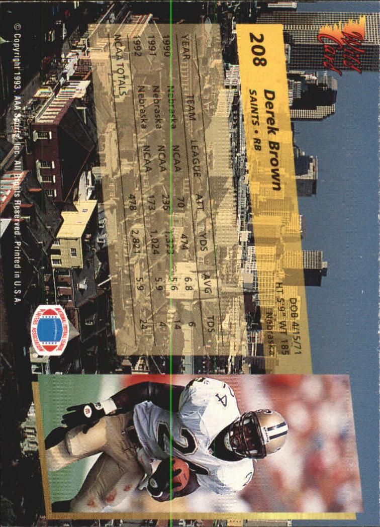 1993-Wild-Card-Superchrome-Football-Card-Pick-103-260 thumbnail 199
