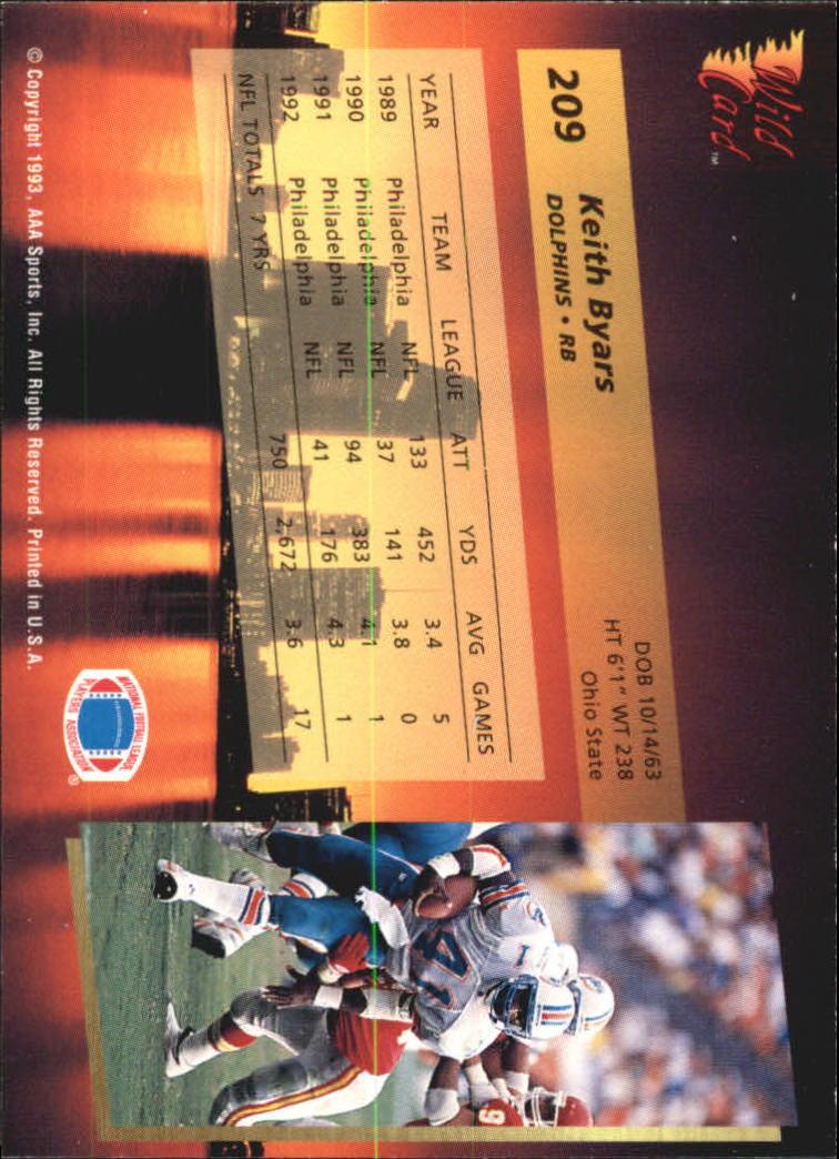 1993-Wild-Card-Superchrome-Football-Card-Pick-103-260 thumbnail 201