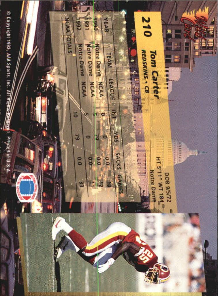 1993-Wild-Card-Superchrome-Football-Card-Pick-103-260 thumbnail 203