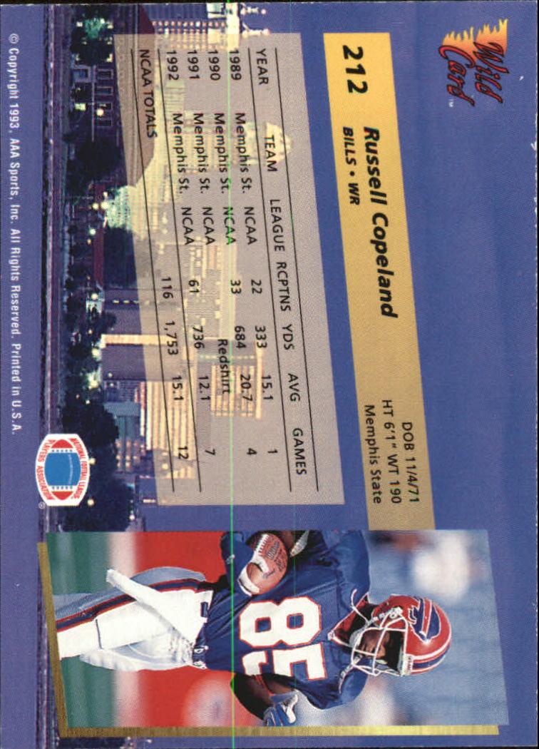 1993-Wild-Card-Superchrome-Football-Card-Pick-103-260 thumbnail 207