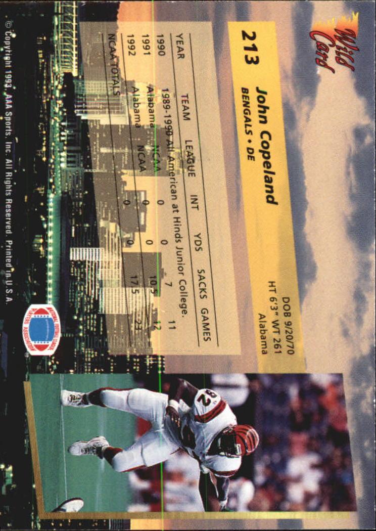 1993-Wild-Card-Superchrome-Football-Card-Pick-103-260 thumbnail 209