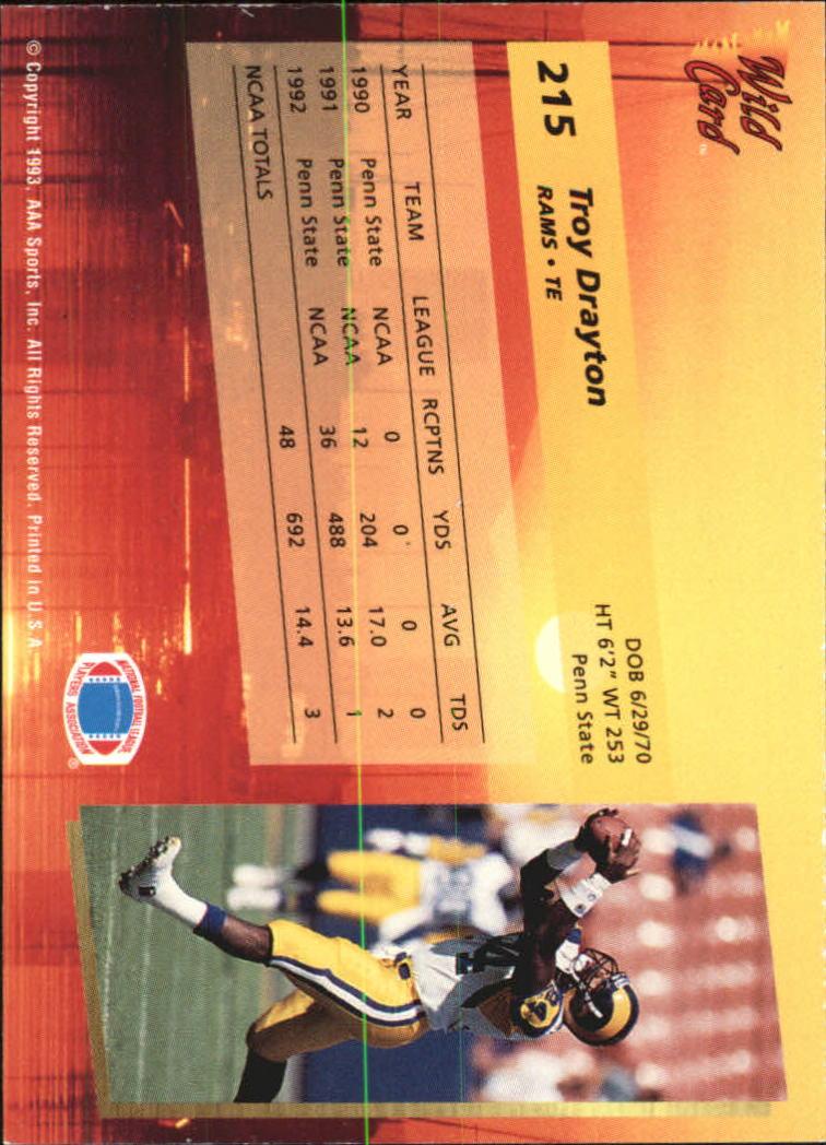 1993-Wild-Card-Superchrome-Football-Card-Pick-103-260 thumbnail 213